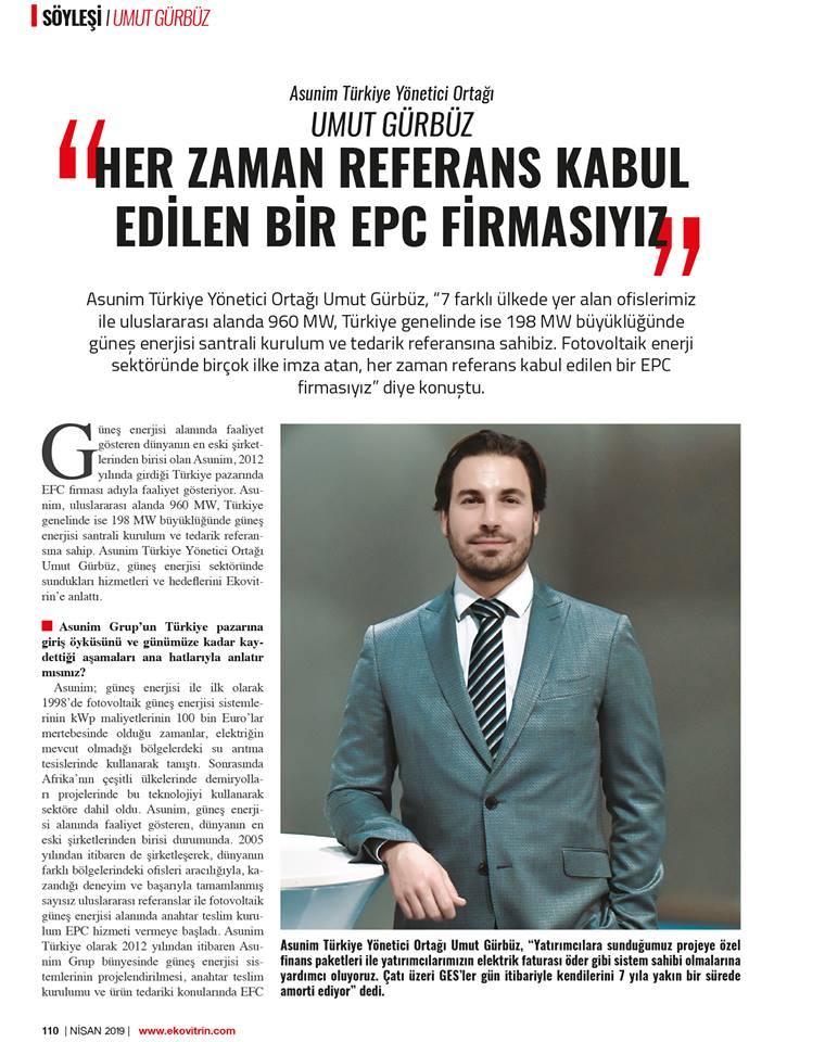 """""""HER ZAMAN REFERANS KABUL EDİLEN BİR EPC FİRMASIYIZ"""""""